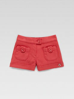 Gucci - Infant's Cotton Pique Shorts