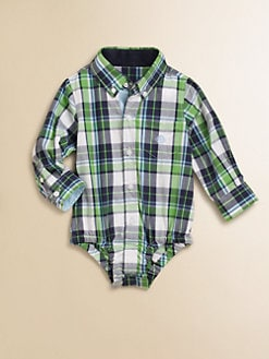 Andy & Evan - Infant's Woven Plaid Bodysuit