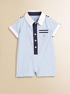Andy & Evan - Infant's Woven Gingham Shortall