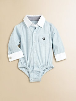 Andy & Evan - Infant's French Cuff Plaid Bodysuit