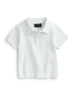 Oscar de la Renta - Infant's Heathered Cotton Polo Shirt