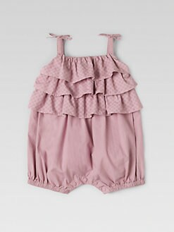 Gucci - Infant's Ruffled Shortall