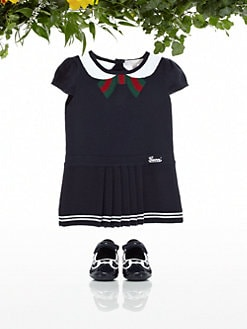 Gucci - Infant's Oltremare Pleated Dress