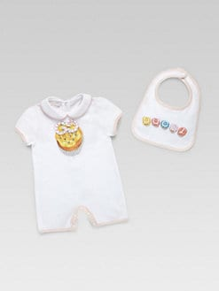 Gucci - Infant's Two-Piece Cupcake Shortall & Bib Set