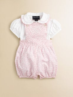 Oscar de la Renta - Infant's Print Shortall and Blouse Set