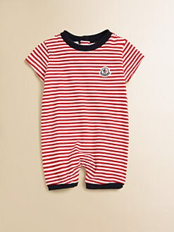 Moncler - Infant's Striped Playsuit