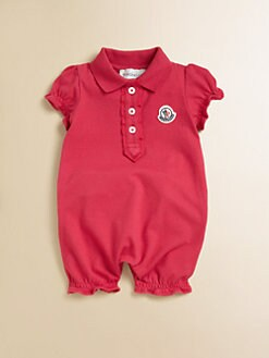 Moncler - Infant's Polo Playsuit