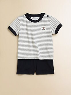 Moncler - Infant's Striped Tee and Shorts Set
