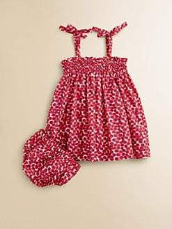 Oscar de la Renta - Infant's Cherry Print Sundress and Bloomer Set