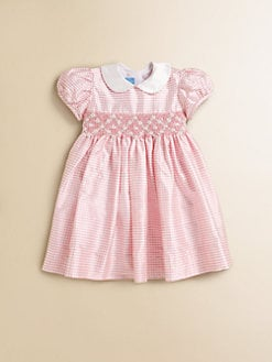 Anavini - Infant's Sabine Gingham Silk Dress