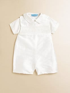 Anavini - Infant's Silk Andre Shirt & Shortall Set