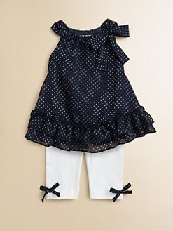 Miniclasix - Infant's Chiffon Top and Leggings Set