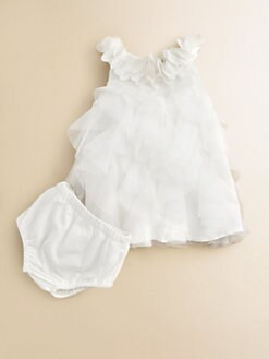 Miniclasix - Infant's Tiered Tulle Dress and Bloomer Set