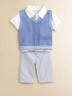 Miniclasix - Infant's Sweater Vest, Shirt and Pants Set