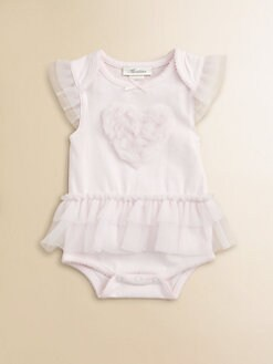Miniclasix - Infant's Tulle-Trimmed Bodysuit