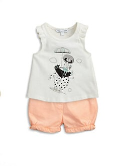 Little Marc Jacobs - Infant's Pleat-Trimmed Tank