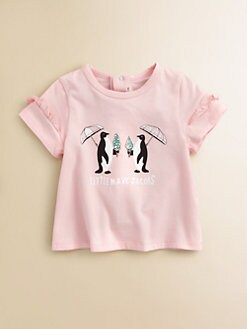 Little Marc Jacobs - Infant's Gathered Penguin Tee
