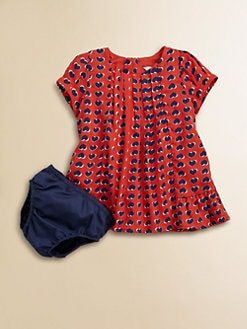 Little Marc Jacobs - Infant's Heart Print Satin Dress and Bloomer Set