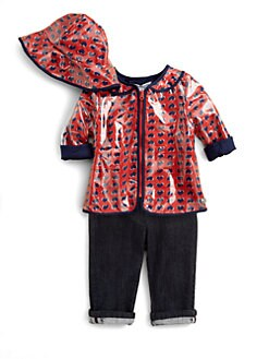 Little Marc Jacobs - Infant's Heart Raincoat & Rain Hat Set