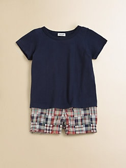 Splendid - Infant's T-Shirt and Madras Shorts Set