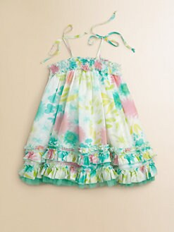 Halabaloo - Infant Girl's Multicolor Floral Dress