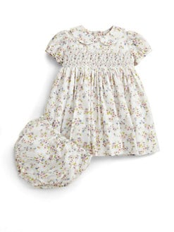 Baby CZ - Infant's Swiss Dot Smocked Dress and Bloomer Set