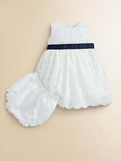 Baby CZ - Infant's Eyelet Dress and Bloomer Set