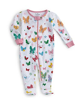 Hatley - Butterfly-Print Cotton Footie