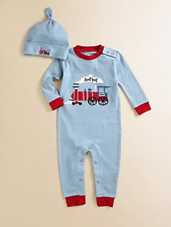 Hatley - Infant's Caboose Coverall & Hat Set
