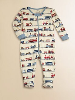 Hatley - Infant's Choo-Choo Footed Coverall