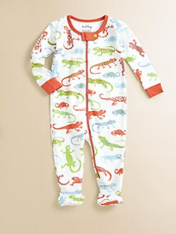 Hatley - Infant's Crazy Lizards Footed Coverall