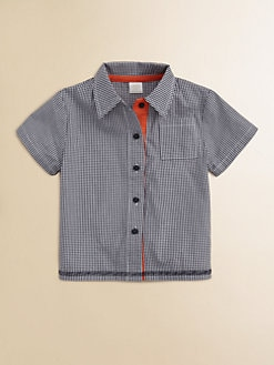 Egg Baby - Infant's Woven Gingham Shirt