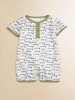 Egg Baby - Infant's Fish Print Romper