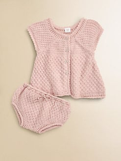 Egg Baby - Infant's Pointelle Tunic and Bloomer Set