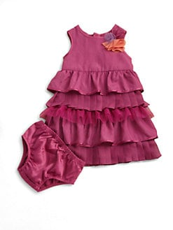 DKNY - Infant's Tiered Dress and Bloomer Set