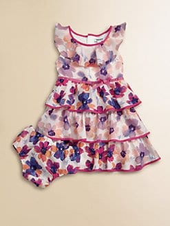 DKNY - Infant's Tiered Floral Dress and Bloomer Set