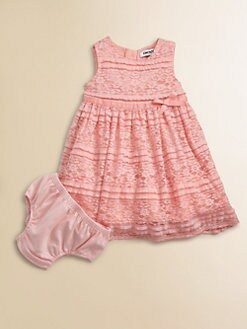 DKNY - Infant's Stretch Lace Dress and Bloomer Set