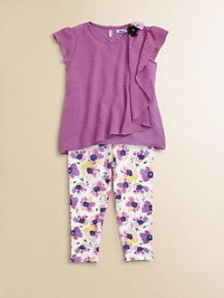 DKNY - Infant's Cascade Top and Floral Legging Set
