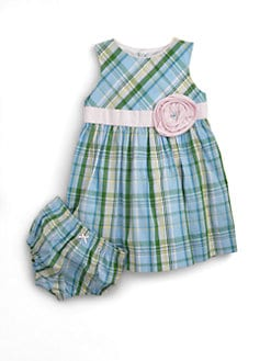 Hartstrings - Infant's Plaid Dress & Bloomers Set