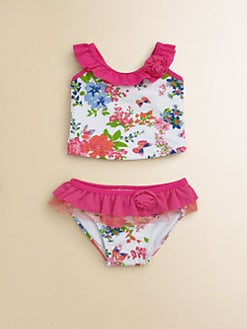 Hartstrings - Infant's Two-Piece Floral Ruffled Swimsuit