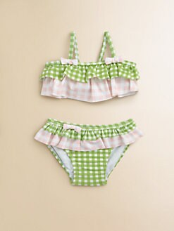 Hartstrings - Infant's Two-Piece Check Ruffled Swimsuit