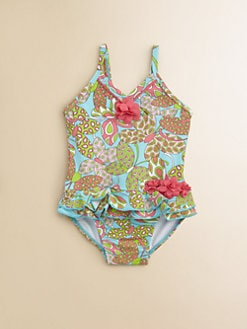 Hartstrings - Infant's One-Piece Tropical Flowers Swimsuit