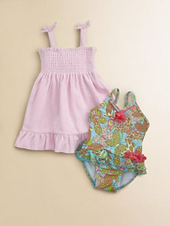 Hartstrings - Infant's Smocked Terry Dress