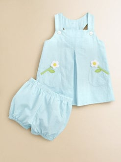 Florence Eiseman - Infant's Seersucker Dress and Bloomer Set