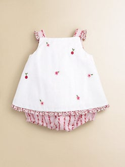 Florence Eiseman - Infant's Woven Pique and Floral Romper