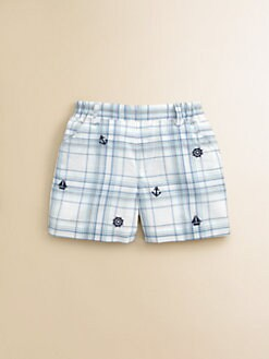 Florence Eiseman - Infant's Embroidered Plaid Shorts