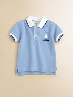 Florence Eiseman - Infant's Color-Tipped Sailboat Polo