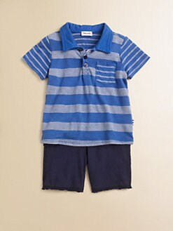 Splendid - Infant's Striped Polo Shirt & Shorts Set