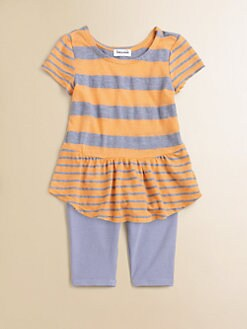 Splendid - Infant's Striped Peplum Top & Leggings Set