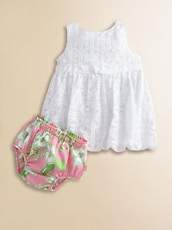 Lilly Pulitzer Kids - Infant's Britta Lace Bubble Dress & Bloomers Set